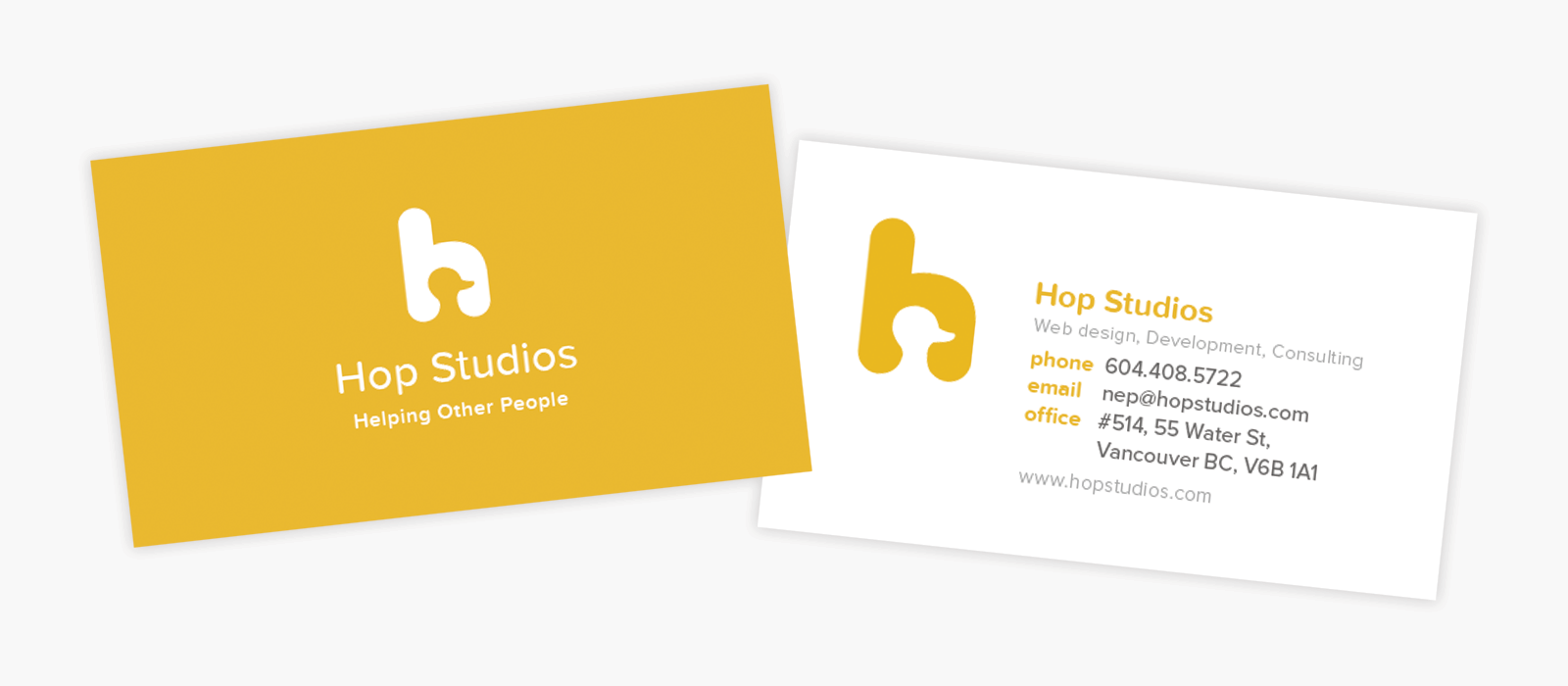 hop business cards